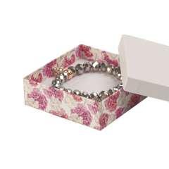 Pudełko CARLA uniwersalne duże białe + kwiaty