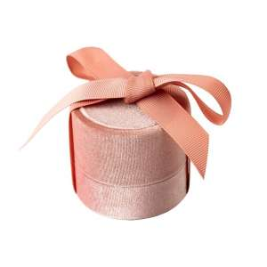 Pudełko MEGAN pierścionek różowe