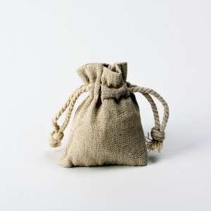 Bolsos hecho de lino 6x8 cm ECO
