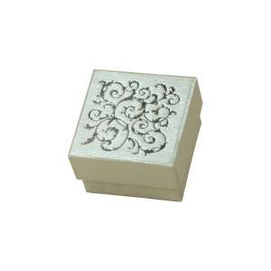 Pudełko LENA pierśc.srebrne+Czarny nadruk