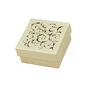 Pudełko LENA uniw.małe Ecru+Złoty
