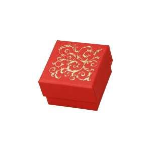 Pudełko LENA pierśc.czerwone+Złoty nadruk
