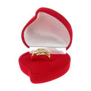 Pudełko ANA serce z różą czerwone