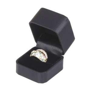 Pudełko SATIN pierścionek czarne