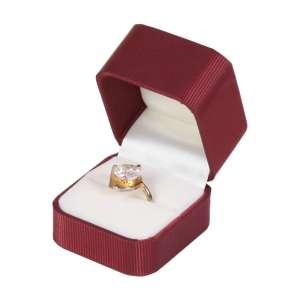 Pudełko SATIN pierścionek bordo