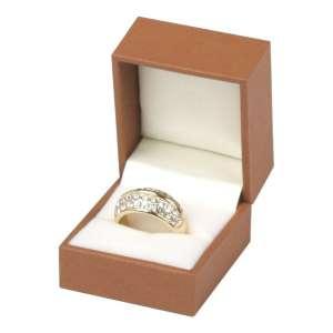 Pudełko EVITA pierścionek brązowe