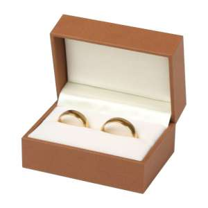 Pudełko EVITA obrączki brązowe