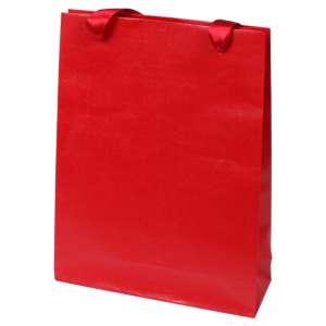 Torebka EMI czerwona 18x26x6 cm. z tasiemką