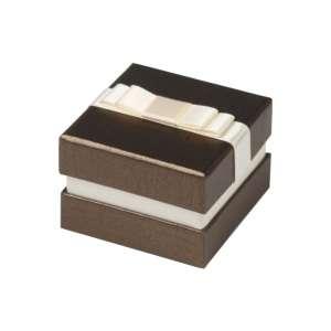 Pudełko DIANA pierścionek, obrączki brązowe