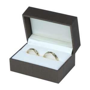 Pudełko LARA obrączki brązowe