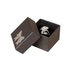Pudełko TINA kokardka pierścionek grafitowe
