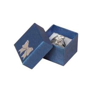 Pudełko TINA kokardka pierścionek Niebieskie