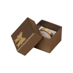 Pudełko TINA kokardka pierścionek brązowe