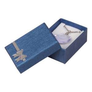 Pudełko TINA kokardka uniw.małe Niebieskie