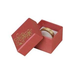 Pudełko TINA kwiatki pierścionek bordo