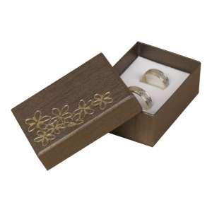 Pudełko TINA kwiatki uniw.małe brązowe