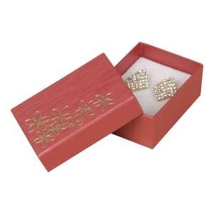 Pudełko TINA kwiatki uniw.małe bordo