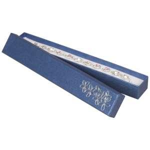 Pudełko TINA kwiatki bransoletka niebieskie