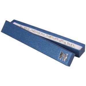 Pudełko TINA kokardka bransoletka Niebieskie