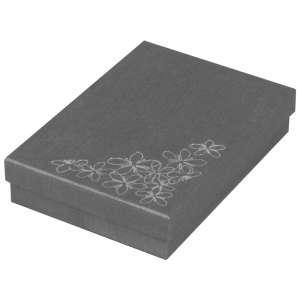 Pudełko TINA kwiatki kolia grafitowe