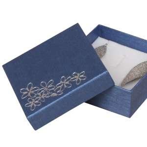 Pudełko TINA kwiatki uniw.duże Niebieskie