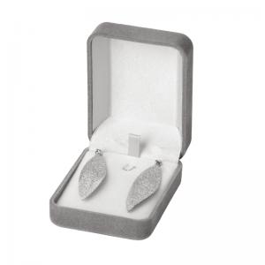 Pudełko EMMA kolczyki szare