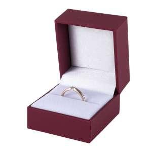 Pudełko IDA pierścionek bordowe