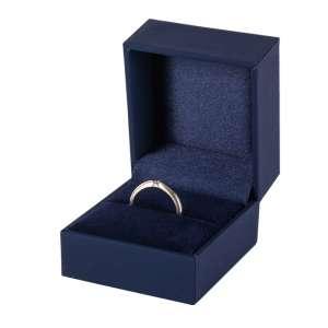 Pudełko IDA pierścionek niebieskie