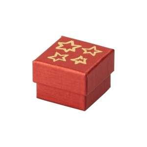 Pudełko TINA bordowa GWIAZDKI pierścionek