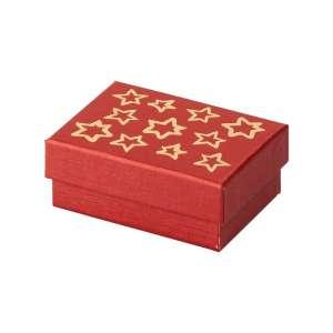 Pudełko TINA bordowa GWIAZDKI uniw.małe