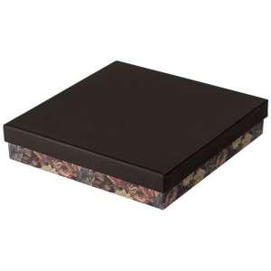 Pudełko CARLA kolia czarne + kwiaty