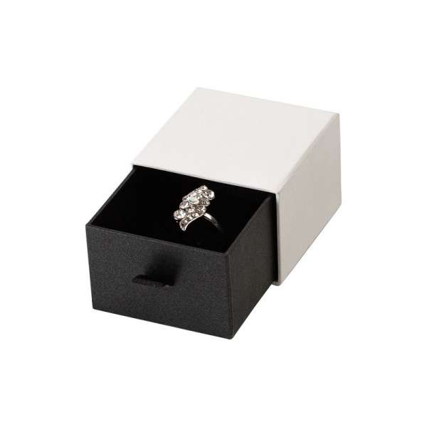 Pudełko KAREN pierścionek białe