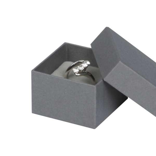 Pudełko CARLA pierścionek szare