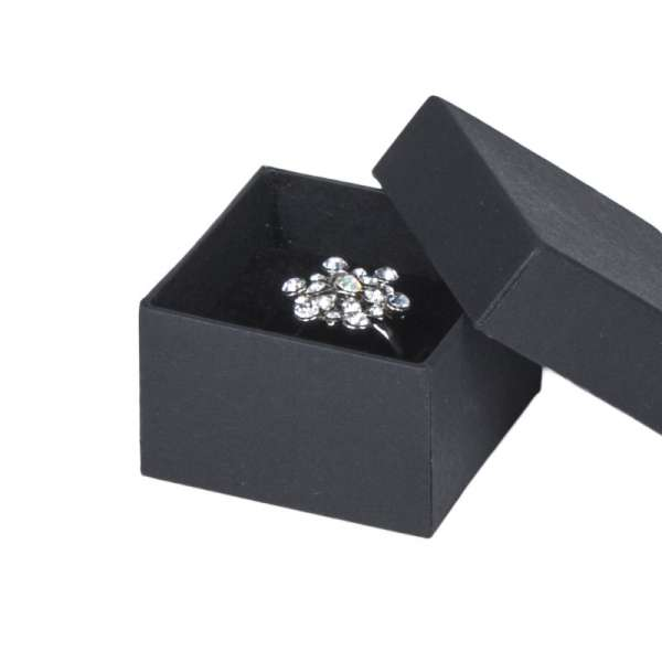 Pudełko CARLA pierścionek czarne