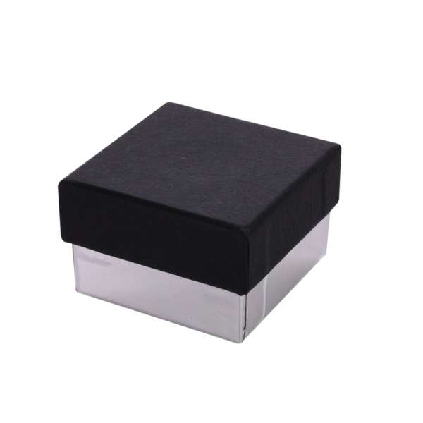 Pudełko CARLA pierścionek czarno-srebrne