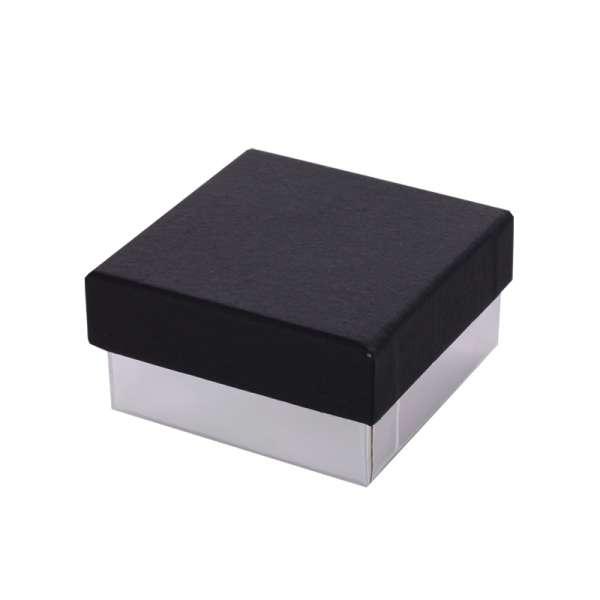 Pudełko CARLA uniwersalne małe czarno-srebrne