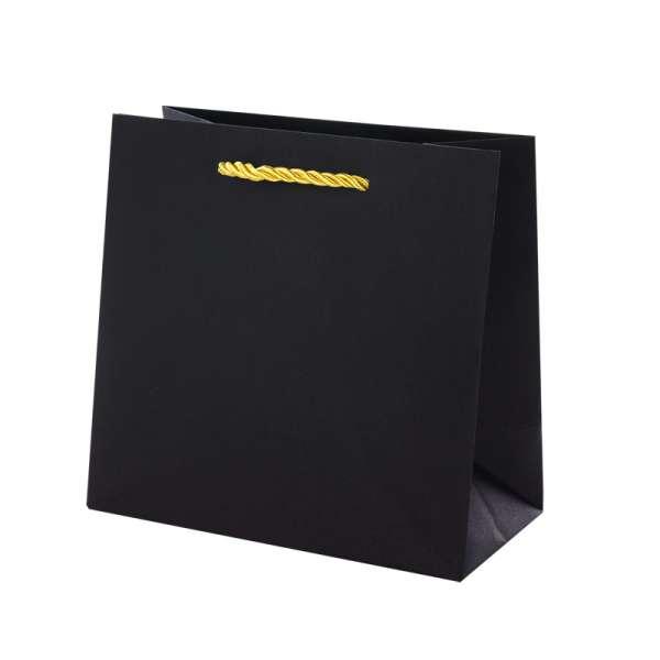 Torebka CARLA czarna-złoty 150x150x80mm.