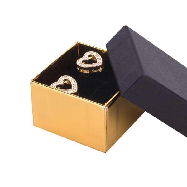 Pudełko CARLA pierścionek czarno-złote