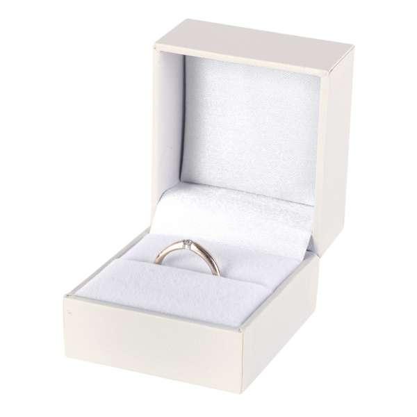 Pudełko IDA pierścionek ecru