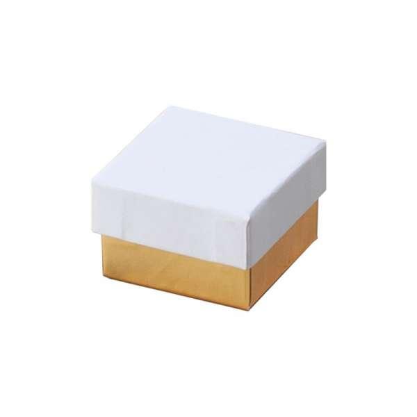 Pudełko CARLA pierścionek biało-złote