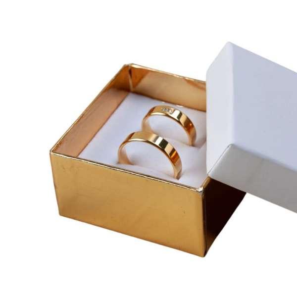 Pudełko CARLA uniwersalne małe biało-złote