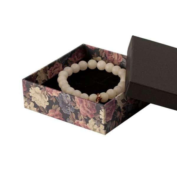 Pudełko CARLA uniwersalne duże czarne + kwiaty